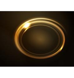 frame golden vector image vector image