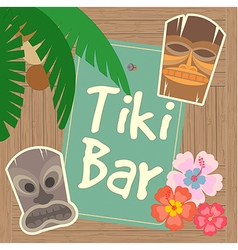 Hawaii Tiki Bar Poster vector image