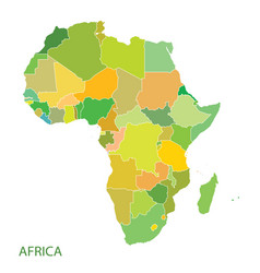 map of africa continent vector image vector image