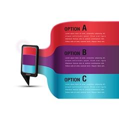 Mobile Presentation Template Modern Color vector image