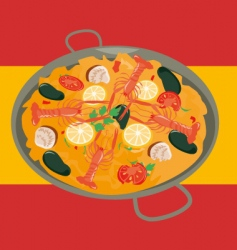 paella vector image vector image