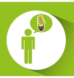 symbol bulb environment graphic vector image