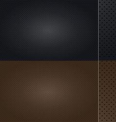 Automotive Leather set vector image vector image