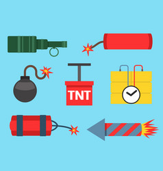 bomb and rockets weapon vector image
