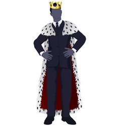 business man king vector image vector image