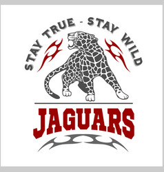 jaguar and flame - logo vector image