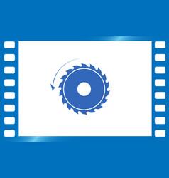 circular saw sawmill icon vector image vector image