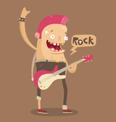 Punk rock guitar player vector image vector image