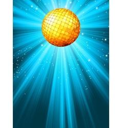 Sparkling blue disco ball vector image vector image