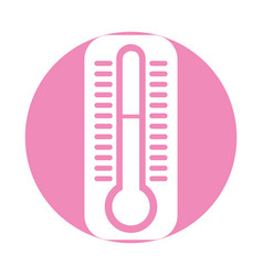 Termometer measure isolated icon vector