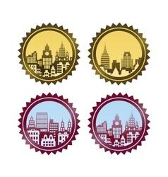 The citys skyline vector image vector image