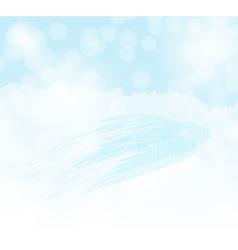 winter sky background vector image vector image