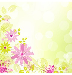 Abstract Flower Background With Leaf vector image