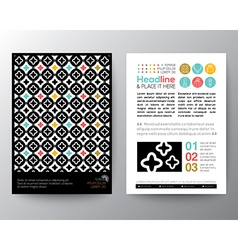Abstract Pattern Poster Brochure Flyer Layout vector