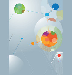 Abstract poster design vector