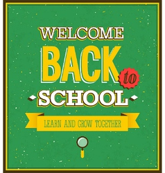 Back to school typographic design vector image