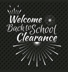 back to school typographic logo vector image