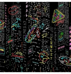 Background City Nightlife vector