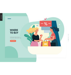 Business series - where to buy web template vector