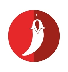 Chili pepper culinary food red circle vector