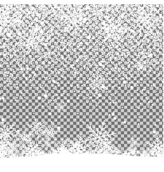christmas shining beautiful snow on isolated vector image