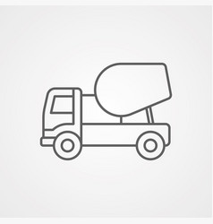 concrete mixer icon sign symbol vector image