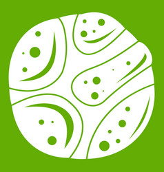 Deserted planet icon green vector