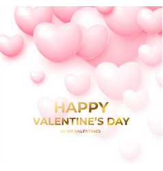design concept for valentines day poster with pink vector image