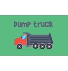 Dump truck of flat vector