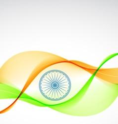 Elegant indian flag design vector