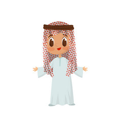 flat icon of little boy dressed as arab vector image