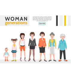 Flat people generation set vector