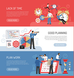 Flat planning banners vector