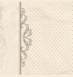 floral vignette border vintage background old vector image