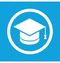 Graduation sign icon vector