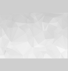 gray white geometric rumpled triangular low poly vector image