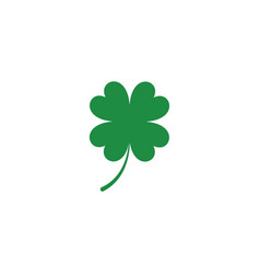 Green clover leaf icon template vector