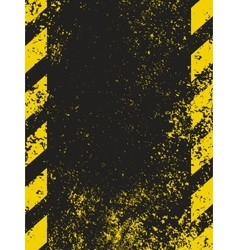 Grungy hazard vector