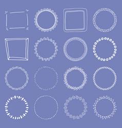 Handdrawn frame collection vector