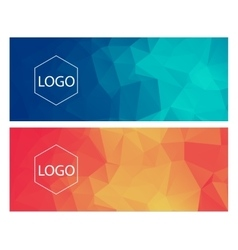 Horisontal polygonal banners vector image