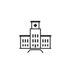 Hospital complex icon flat design vector