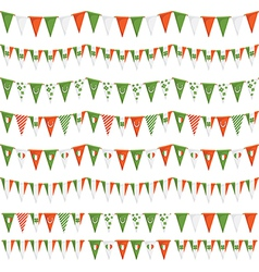 Irish party bunting vector