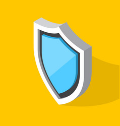 isometric shield icon vector image