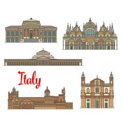 Italian travel landmarks of arts and religion vector