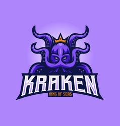 Kraken sports logo vector