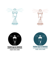 Lighthouse logo pharos for business vector