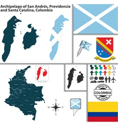 map archipelago san andres and providencia vector image