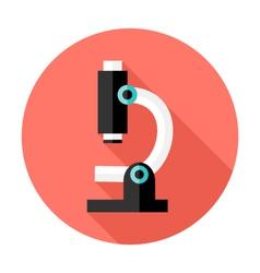Microscope Flat Circle Icon vector