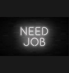 need job concept banner template vector image