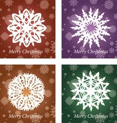 openwork handmade snowflake vector image